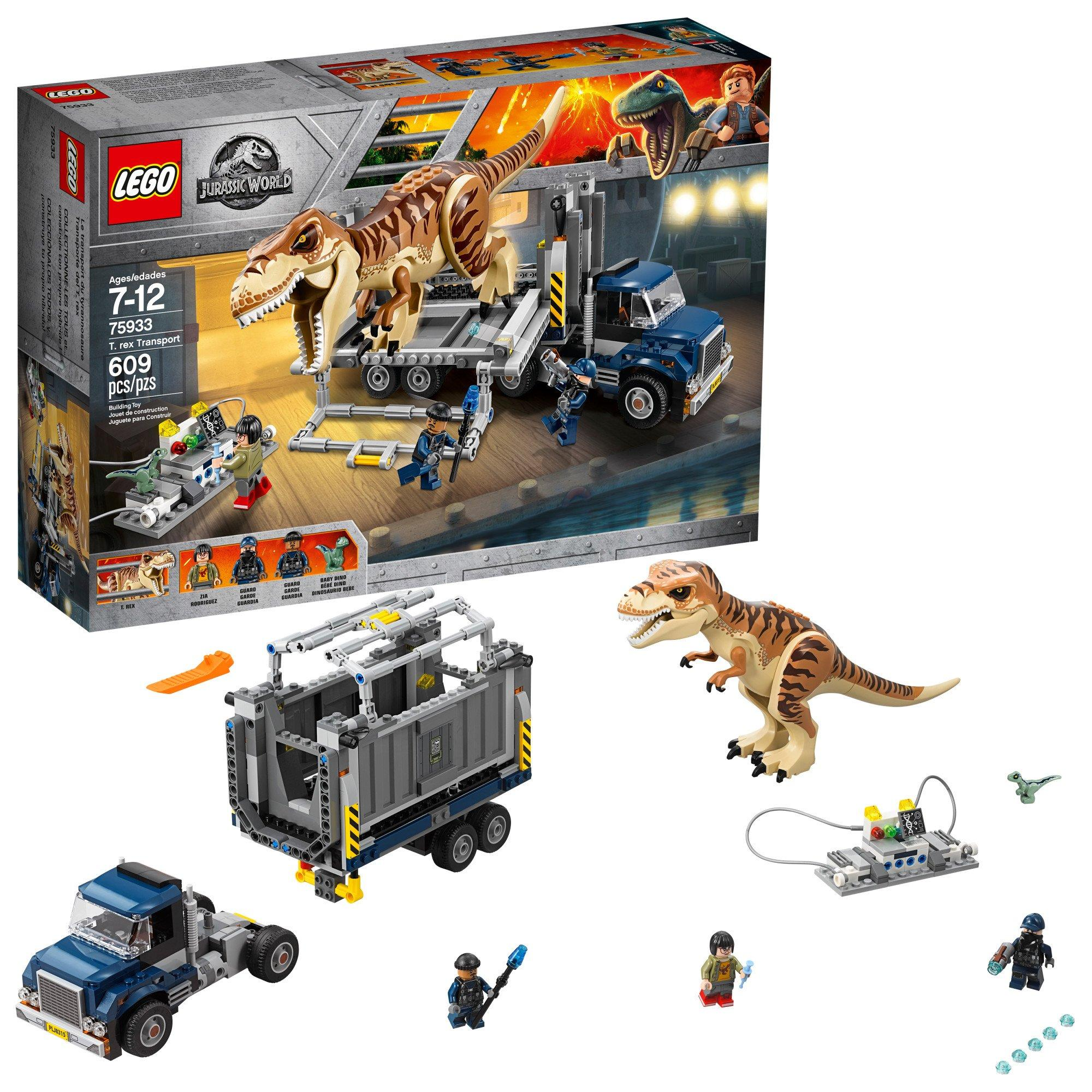 About TRex Jurassic World 75933 Lego Transport Details rWCoedxB